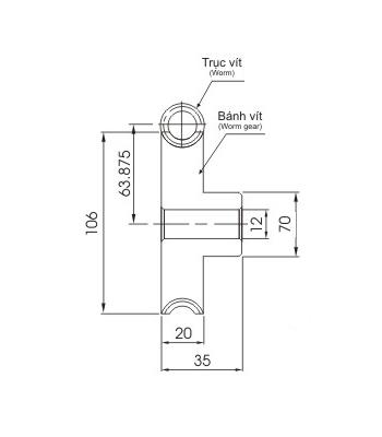 Bánh vít trục vít WRM2 50 - Bánh vít trục vít - Nguyên Việt JSC