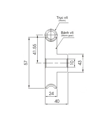 Bánh vít trục vít WRM2.5 20 - Bánh vít trục vít - Nguyên Việt JSC