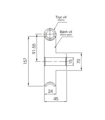 Bánh vít trục vít WRM2.5 60 - Bánh vít trục vít - Nguyên Việt JSC