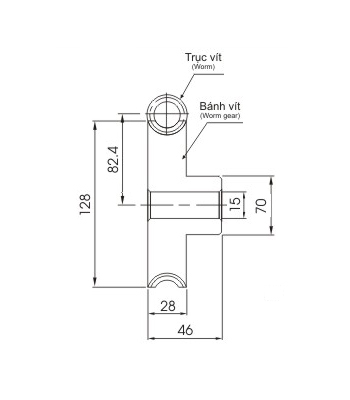 Bánh vít trục vít WRM3 40 - Bánh vít trục vít - Nguyên Việt JSC