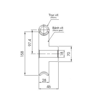 Bánh vít trục vít WRM3 50 - Bánh vít trục vít - Nguyên Việt JSC