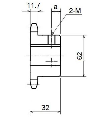 Nhông xích công ngiệp RS60-14TB - RS60 - Nguyên Việt JSC