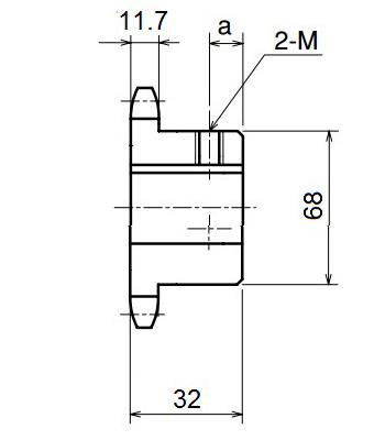 Nhông xích công nghiệp RS60-15TB - RS60 - Nguyên Việt JSC