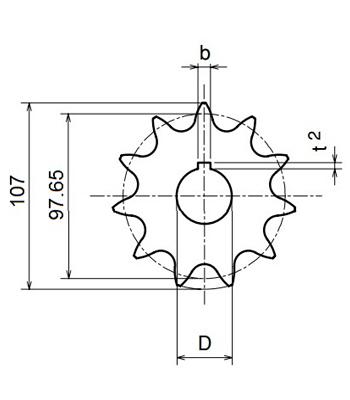 Nhông xích công nghiệp RS60-16TB - RS60 - Nguyên Việt JSC