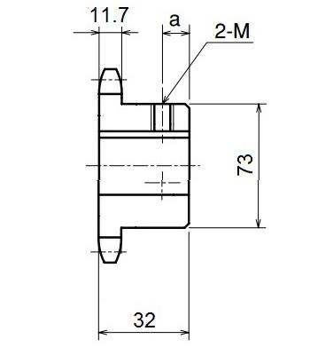 Nhông xích công nghiệp RS60-17TB - RS60 - Nguyên Việt JSC