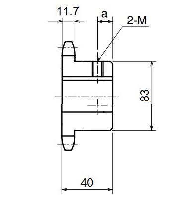 Nhông xích công nghiệp RS60-20TB - RS60 - Nguyên Việt JSC