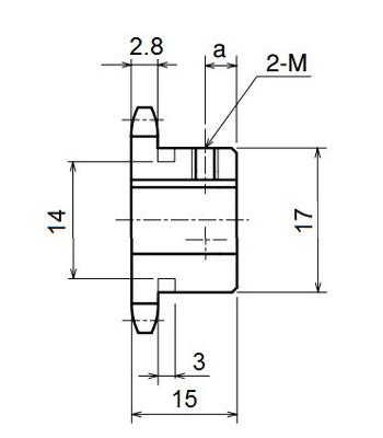 Nhông xích công nghiệp RS25-10TB - RS25 - Nguyên Việt JSC