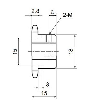 Nhông xích công nghiệp RS25-11TB - RS25 - Nguyên Việt JSC