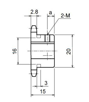 Nhông xích công nghiệp RS25-12TB - RS25 - Nguyên Việt JSC