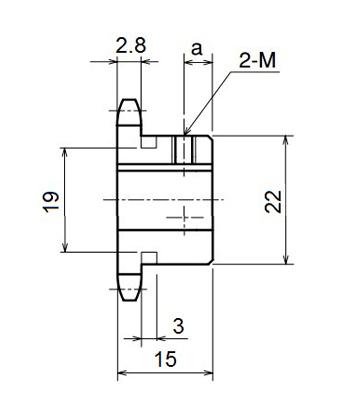 Nhông xích công nghiệp RS25-13TB - RS25 - Nguyên Việt JSC