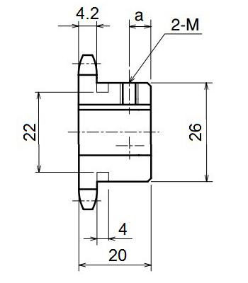 Nhông xích công nghiệp RS35-11TB - RS35 - Nguyên Việt JSC