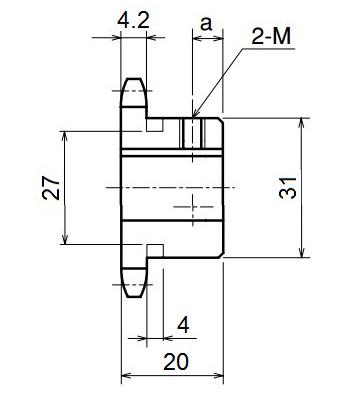 Nhông xích công nghiệp RS35-12TB - RS35 - Nguyên Việt JSC