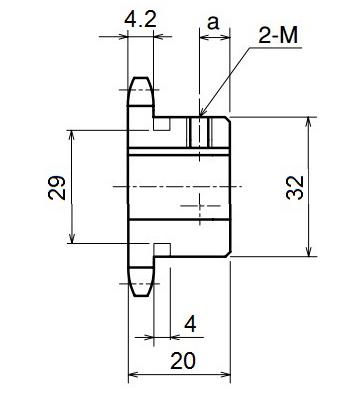 Nhông xích công nghiệp RS35-13TB - RS35 - Nguyên Việt JSC