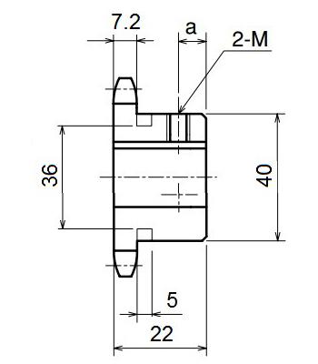Nhông xích công nghiệp RS40-12TB - RS40 - Nguyên Việt JSC