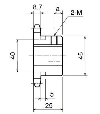 Nhông xích công nghiệp RS50-11TB - RS50 - Nguyên Việt JSC