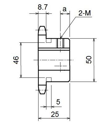 Nhông xích công nghiệp RS50-12TB - RS50 - Nguyên Việt JSC