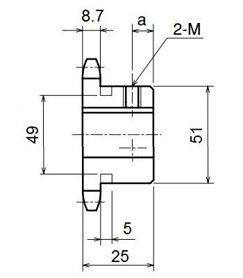 Nhông xích công nghiệp RS50-13TB - RS50 - Nguyên Việt JSC