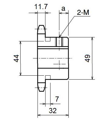 Nhông xích công nghiệp RS60-10TB - RS60 - Nguyên Việt JSC