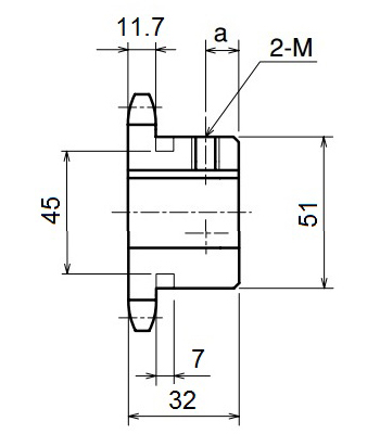 Nhông xích công nghiệp RS60-11TB - RS60 - Nguyên Việt JSC