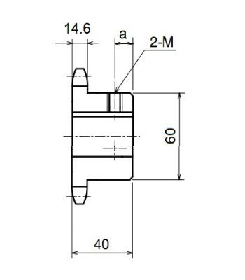 Nhông xích công nghiệp RS80-11TB - RS80 - Nguyên Việt JSC